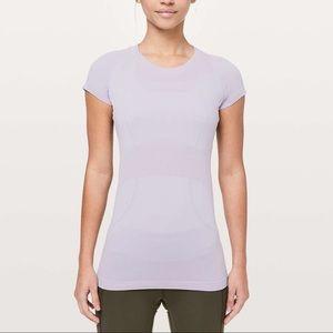 Lululemon swiftly tech short sleeve-silver lilac